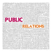 Stock Illustration of business word cloud for business concept, public relations
