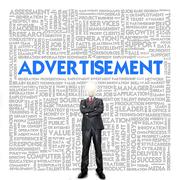 Stock Illustration of business word cloud for business concept, advertisement