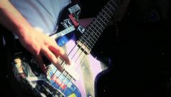 Finger Picking Punk Rock Bass Guitar HD - stock footage