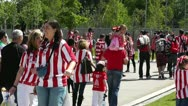 Stock Video Footage of Madrid Casa De Campo before Copa del Rey Final 2012 Athletic Bilbao Fans 11
