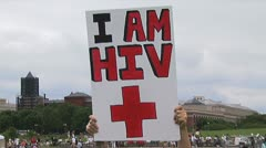 HIV-AIDS activists - stock footage