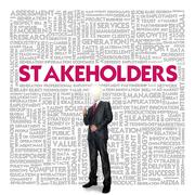 Stock Illustration of business word cloud for business concept, stakeholders