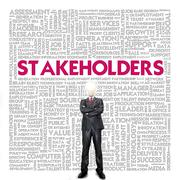 Business word cloud for business concept, stakeholders Stock Illustration