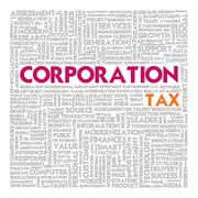 Business word cloud for business concept, tax Stock Illustration