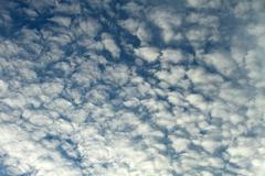 Puffy Morning Clouds - stock photo