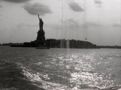 Stock Photo of Statue of Liberty view from ferry