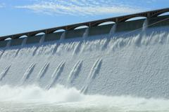 Grand Coulee Hydroelectric Dam - stock photo