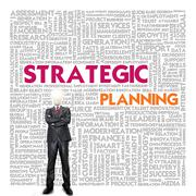 Stock Illustration of business word cloud for business concept, strategic planning