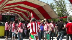 Madrid Casa De Campo before Copa del Rey Final 2012 Athletic Bilbao Fans 14 Stock Footage