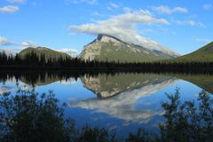Mount Rundle and Vermilion Lakes - stock photo