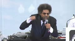 Cornel West discusses LGBT rights Stock Footage