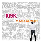 Stock Illustration of business word cloud for business and finance concept, risk management
