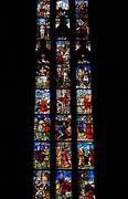 Stained Glass Painting in the Duomo Cathedral in Milan, Italy Stock Photos