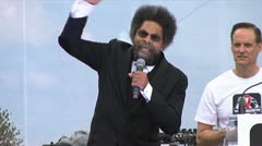 """homophobia is evil"" Dr. Cornel West Stock Footage"