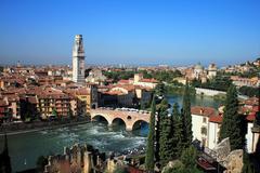 Skyline of Verona, Italy - stock photo