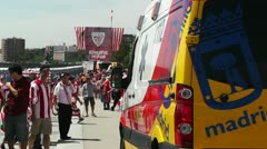 Madrid Casa De Campo before Copa del Rey Final 2012 Athletic Bilbao Fans 17 Stock Footage