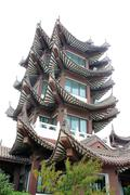 Traditional Multi-Storeyed Pagoda in China Stock Photos