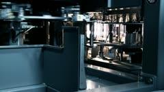 Water bottle machine Stock Footage