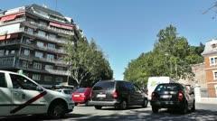 Madrid Cuesta de San Vicente 01 traffic Stock Footage
