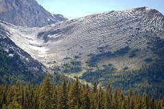 Alpine slopes in the rocky mountains Stock Photos