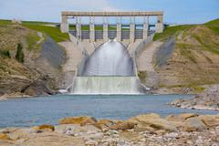Hydro dam spillway Stock Photos