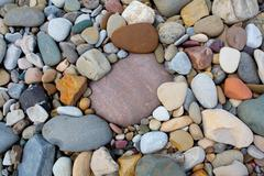 river rocks - stock photo