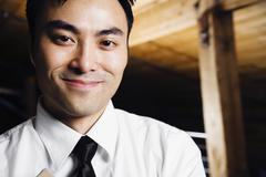 Close up of asian man smiling Stock Photos