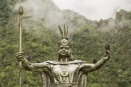 Inca god by machu picchu Stock Photos