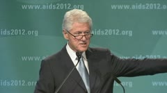 """problem with AIDS..."" President Bill Clinton Stock Footage"