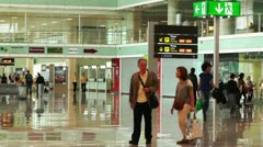 Barcelona Aeroport Del Prat International Airport Terminal 05 Stock Footage
