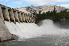 Hydro electric dam spillway Stock Photos
