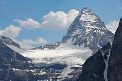 Mount assiniboine in the rocky mountains of canada Stock Photos
