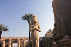 colossus of ramses ii - stock photo