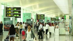 Barcelona Aeroport Del Prat International Airport Terminal 08 Stock Footage