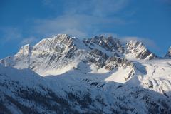 winter mountains 01 - stock photo