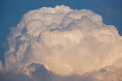 huge storm cloud - stock photo