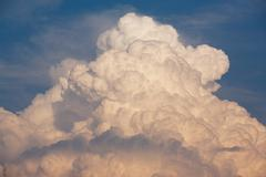 huge thunderstorm cloud - stock photo
