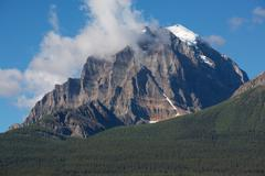 Mount temple, banff, alberta, canada Stock Photos