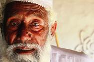 Old Pakistani Man Assesses Damage done by Floods in 2010 Stock Photos
