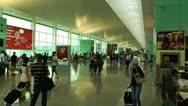 Stock Video Footage of Barcelona Aeroport Del Prat International Airport Terminal 09
