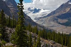Glacier in the rocky mountains Stock Photos