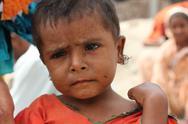 Cute Refugee Girl in Pakistan Stock Photos