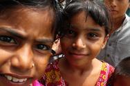 Cute Refugee Girls in Pakistan Stock Photos