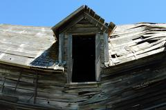 collapsing old house - stock photo