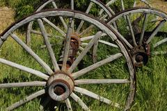 wagon wheels 01 - stock photo