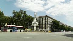Barcelona Avinguda del Marques de lArgentera 01 Stock Footage