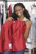 African woman clothing shopping Stock Photos