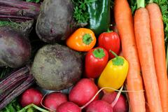 Healthy Vegetables Close Up - stock photo