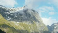 Snowy cloudy mountain Stock Footage