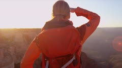 Female achieving her ambitions - stock footage